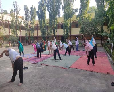 FIT INDIA WEEK ACTIVITIES  BY STAFF